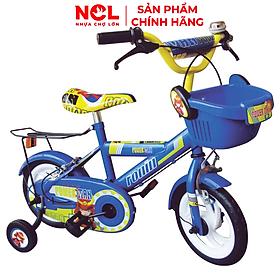 Xe đạp trẻ em Nhựa Chợ Lớn 12 inch K74 - M1404-X2B, Sườn xe bằng sắt chịu lực, Nhựa chính phẩm an toàn, Sản xuất tại Việt Nam - Hàng chính hãng