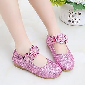 Giày bé gái 1 - 12 tuổi kiểu dáng búp bê ánh kim xinh xắn GE28