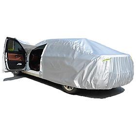 Bạt phủ xe ô tô một lớp vải dù Polyester Oxford Fabric chống thấm nước hoàn hảo che xe ôtô 4 chỗ đến 7 chỗ cao cấp cam kết hàng giống hệt ảnh thật - tặng kèm 5 viên sủi rửa kính