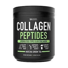 Bột Collagen Peptides  Đã được xác minh không biến đổi gen, được chứng nhận thân thiện với Paleo và không chứa Gluten - Không hương vị (Hũ 16oz)