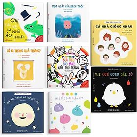 Combo ehon cho bé 0 - 6 tuổi: Điều kỳ diệu của màu sắc + Sắc màu quanh ta - giúp bé định hình và khám phá thế giới màu sắc đầy thú vị