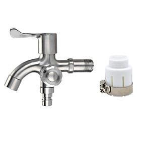 Vòi máy giặt - Vòi nước Inox 304 đa năng - tặng đầu nối đa năng