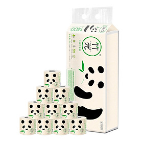 Bamboo π original bamboo pulp roll natural no incense 140 grams 10 tablets installed 3 layers of health does not bleach character color toilet paper