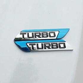 Chữ TURBO trang trí kim loại