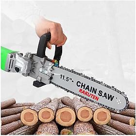 Lưỡi cưa xích RAKUTEN LOẠI 1 gắn máy mài cầm tay, bộ dụng cụ chuyển đổi máy mài thành máy cưa gỗ mini