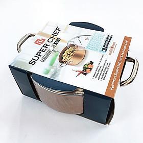 Nồi nắp kính SUPER CHEF h.kim tráng men đáy từ 16cm SC_S2016