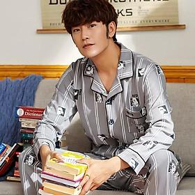 Đồ bộ Pijama đồ ngủ nam cao cấp, vải COTTON 100 dày dặn & thoáng khí phù hợp cho cả 4 mùa (705)