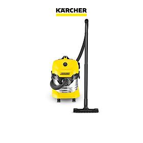 Máy hút bụi khô & ướt cao cấp Karcher WD 4 Premium và túi lọc bụi - Hàng Chính Hãng