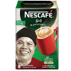 NESCAFÉ 3in1 Cà phê rang xay hòa tan Đậm đà hài hòa - Hộp 20 gói x 17 g