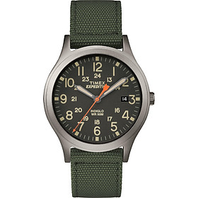 Timex Unisex TW4B13900 Expedition Scout 36 Green/Black Nylon Strap Watch