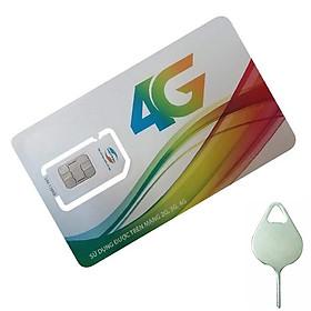 SIM 4G VIETTEL V120 60Gb/tháng + nghe gọi miễn phí + tặng que chọt sim
