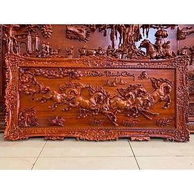 Tranh gỗ treo tường mã đáo thành công - gỗ hương đỏ