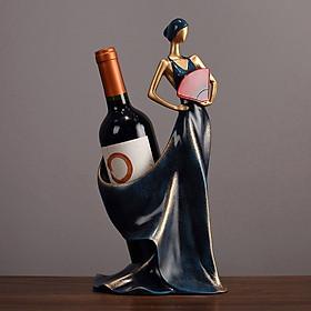 Tượng cô gái cầm quạt đựng rượu