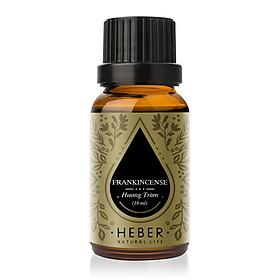 Tinh Dầu Hương Trầm Frankincense Essential Oil Heber | 100% Thiên Nhiên Nguyên Chất Cao Cấp | Nhập Khẩu Từ Ấn Độ | Kiểm Nghiệm Quatest 3 | Xông Thơm Phòng | Hương Dịu Nhẹ
