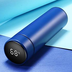 Bình giữ nhiệt đèn Led cảm biến giữ nhiệt 24h chất liệu Inox 304 cao cấp sang trọng dung tích 480ml màu xanh dương chìm mạnh mẽ quyền lực