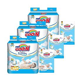 Combo 3 bịch Tã Dán Goo.n Premium Gói Cực Đại S64/M60/L50/XL46 - Tặng thêm 15 miếng cùng size