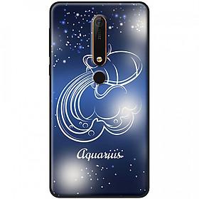 Ốp lưng  dành cho Nokia 6.1 mẫu Cung hoàng đạo Aquarius (xanh)