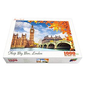 Bộ tranh xếp hình cao cấp 1000 mảnh ghép – Tháp Big Ben, London (50x79cm)