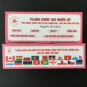 Bộ 361 lá cờ của tất cả các quốc gia và các khu vực trên thế giới, có phiên âm Tiếng Việt