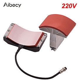 Aibecy Hat Cap Press Mat Pad Heating Transfer Attachment Silica Gel 5.5x3 Inch 220V for Heat Press Machine Hat Heating