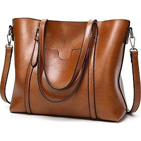 Túi xách tay nữ công sở nâu da bò có dây đeo chéo KS38