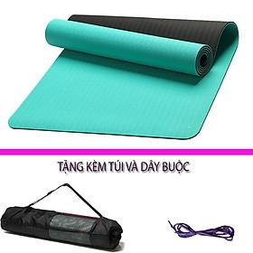 Thảm Tập Yoga Và Gym Chất Liệu Cao Cấp TPE 6mm 2 Lớp DNS012 Đại Nam Sport Chống Trơn+ Tặng Kèm Túi Và Dây Buộc