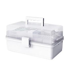Multi-layer Plastic Box Portable First Aid Medicine Case Emergency Storage Box Medicine Storage Container for Home