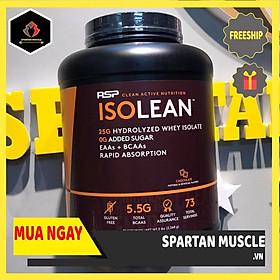 Combo Sữa Tăng Cơ RSP ISOLean Hydrolyzed Whey Protein Isolate - 73 Liều dùng, Vị Chocolate, 2.23kg & Tặng kèm Bình nước 600ml