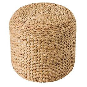 Ghế đôn tròn cao đan Lục Bình cao cấp (40cm x 40cm)