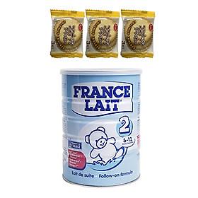 Sữa bột France Lait số 2 (900g)  -  Dinh dưỡng cho trẻ từ 6 -12 tháng tuổi – Tặng 3 bánh quy dừa Nhật Bản hiệu Aee