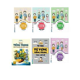 Combo 6 cuốn trung cho người mới bắt đầu + trung chủ đề+ trung giao tiếp+ vui học tiếng trụng Joyful từ vựng+ ngữ pháp+ tập viết chữ Hán ( tặng kèm sổ tay+ bút bi)