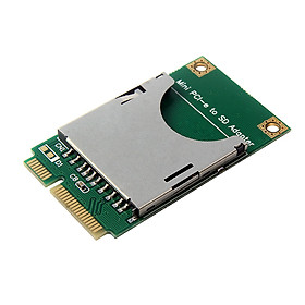 SD Card to MINI PCI-E Interface Port Adapter Mini PCI Express SSD SD Card Converter For Laptop Netbook - Green