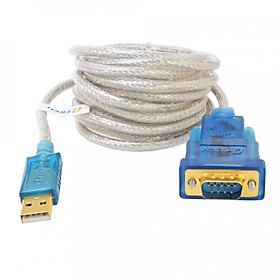 Cáp chuyển đổi usb to com rs232 chình hãng DTech DT-5051 dài 5m