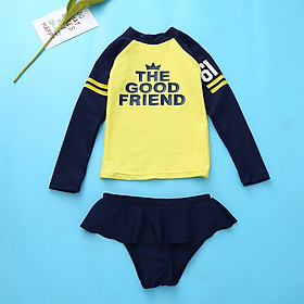 Bộ đồ bơi dài tay phối quần váy cho bé gái DBBG23
