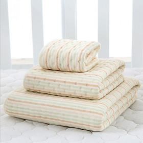 Tấm lót chống thấm 4 lớp Organic Cotton (Size 120 x 70 cm)  mềm mại, thoáng khí, siêu thấm hút, có thể giặt. Miếng lót chống thấm sợi bông tự nhiên an toàn cho bé