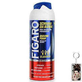 Bọt cạo râu mềm da Figaro Foam 400ml tặng kèm móc khóa