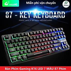 Bàn Phím Gaming Máy Tính XSmart Free Wolf K16 LED 7 Màu, Giả Cơ Cao Cấp Chơi Game Cho PC, Laptop - Hàng Chính hãng