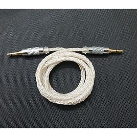 Cáp 2 đầu 3.5mm dây 8 lõi mạ bạc chất lượng cao, cáp AUX dành cho DAC / AMP và các thiết bị Audio