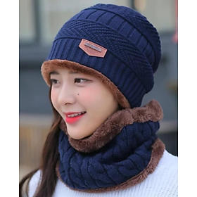 khăn choàng nữ kèm Mũ nón len nữ dn19111602