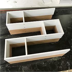 Kệ sách, kệ trang trí treo tường gỗ 3 ngăn dài 80cm x sâu 14cm (KS-24)