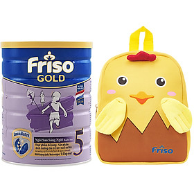 Sữa Bột Friso Gold 5 Cho Trẻ trên 4 tuổi 1.5kg + Tặng Balo gà con xinh xắn