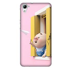 Hình đại diện sản phẩm Ốp lưng nhựa cứng nhám dành cho HTC Desire 826 in hình Heo Con Máy Bay