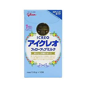 Sữa Glico Icreo Follow Up Milk (Icreo số 1) 10 thanh/hộp, 13,6g/thanh