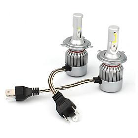 2pcs C6 72W 7600LM 6500K COB LED Car Headlight Lamp Kit H4/H7/9005/9006