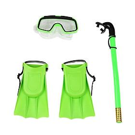 Dụng cụ lặn biển 3 món chân vịt, ống thở, kính lặn trẻ em Sportslink