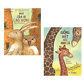 Combo (2 Cuốn) Sách Thiếu Nhi Hay: Nhà Của Ai Cao Hơn? + Giống Hệt Như Anh Cả (những mẩu truyện thú vị cùng hình ảnh sống động thu hút các em nhỏ)