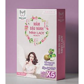 COMBO 4 Mầm Đậu Nành Tăng Vòng 1 Minh Lady Beauty tặng 1 Bịch kẹo Mầm Diệp Lục Colagen