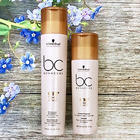 Bộ dầu gội xả Schwarzkopf BC Bonacure Q10+ Time Restore Micellar trẻ hóa tóc yếu dễ gãy rụng Đức 250ml