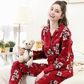 Đồ Bộ Pijama Cotton Nam Hình Gấu