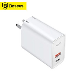 Baseus USB C Charger 30W PD Charger Fast Charging Type C Wall Charger Foldable Adapter with Dual Port USB C PD 3.0 Plus